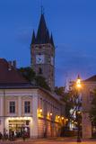 Romania  Maramures Region  Baia Mare  Piata Libertatii Square at Dusk