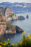 View of Volcano Island from Quattrocchi  Lipari Island  Sicily  Italy