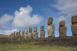 Chile  Easter Island  Hanga Nui Rapa Nui  Ahu Tongariki Moi Statues