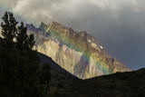 Chile  Patagonia  Torres del Paine NP Green Rainbow and Mountain
