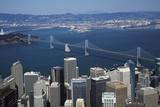 California  Aerial of Downtown San Francisco and Bridges