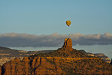 Sunrise  Hot Air Balloon  Chimney Rock  Coconino NF  Sedona  Arizona