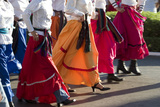 Mexico  Yucatan  Merida  Dancers with Swirling Skirts in Parade