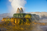 USA  Nevada  Black Rock Desert  Fly Geyser  Erupting
