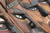 Papua New Guinea  Murik Lakes  Karau Village Traditional Carved Masks