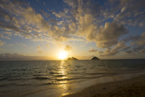 Sunrise  Lanikai Beach  Mokulua Islands  Kailua  Oahu  Hawaii