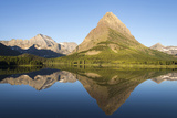 Glacier NP Morning at Swift Current Lake Reflects Grinnell Point