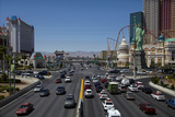 Traffic at Tropicana Avenue and the Strip  Las Vegas  Nevada