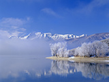 Mt Timpanogas  Deer Creek Reservoir  Wasatch Mountains  Utah