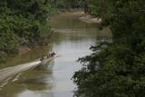 Huaorani Hunters on Tiputini River  Yasuni NP  Amazon  Ecuador