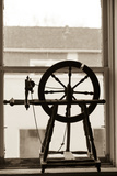 Spinning Wheel in a Window  Wilmington  Illinois  USA Route 66