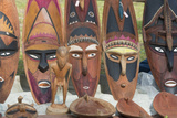 Papua New Guinea  Murik Lakes  Karau Village Carved Wooden Masks