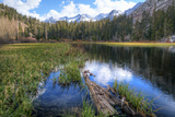USA  California  Sierra Nevada Range Landscape with Weir Pond