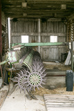 Antique Plow in an Old Wooden Barn  Joliet  Illinois  USA Route 66