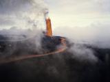 Hawaii Islands  View of Exploding Volcano