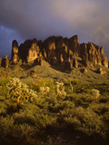 The Superstition Mountains in Lost Dutchman State Park  Arizona