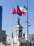 Valparaiso on the Coast Monumento a Los Heroes de Iquique  Chile
