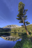 California  Sierra Nevada Mountains Calm Reflections in Grass Lake