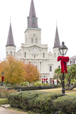 Louisiana  New Orleans St Louis Cathedral with Holiday Decor