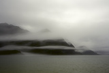A Foggy Mist Layers the Mountains of Resurrection Bay in Alaska