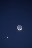 USA  California Moon  Venus and Pluto in the Night Sky