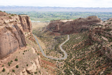 Viewpoint over Book Cliffs and Grand Valley  Colorado NM  Colorado
