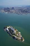 California  San Francisco  Alcatraz Island  San Francisco Bay  Aerial