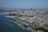 California  San Francisco  Yacht Clubs and Downtown  Aerial