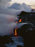 Hawaii Islands  Kilauea  Lava into Ocean