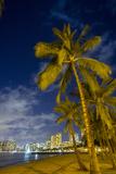 Twilight  Waikiki  Honolulu  Oahu  Hawaii