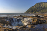 Waves Churn at Thor's Well at Cape Perpetua  Oregon