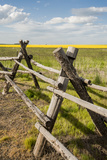 Idaho  Camas Prairie  Wooden Fence at Tolo Lake Access Area
