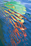 Washington State  San Juan Islands Water Reflection of Boat Sail