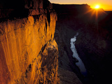 Grand Canyon NP  Arizona Usa Sunrise  Cliffs and the Colorado River