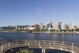 Oregon  Portland Downtown from across the Willamette River