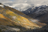 Colorado  San Juan Mountains Red Mountain Pass after Autumn Snowfall