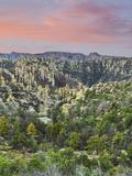 Arizona  Chiricahua National Monument Sunrise on Rocky Landscape