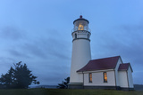 Lighthouse in Evening Light at Cape Blanco State Park  Oregon  USA
