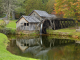 USA  Virginia  Mabry Mill Composite of Mill and Pond