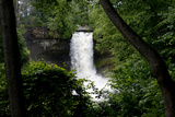 Minnesota  Minneapolis  Minnehaha Falls Park During Flood of the Creek