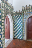 Portugal  Sintra  Sintra National Palace  Geometric Ceramic Tile Mural