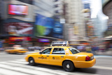 Yellow Taxi Cabs  Just Off Times Square  Manhattan  New York