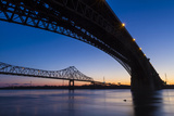 Bridges over the Mississippi River at Dawn in St Louis  Missouri