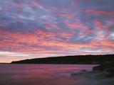 USA  Maine  Acadia National Park  Sunset over the Atlantic Ocean