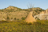 USA  South Dakota  Wild Horse Sanctuary Scenic with Teepee