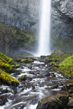 Latourell Falls and Creek  Columbia Gorge  Oregon  USA
