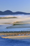 USA  Oregon Fog over Netarts Bay