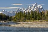 Pacific Creek  Moran Junction  Grand Teton National Park  Wyoming  USA