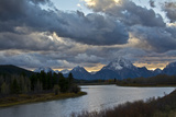 Sunset  Oxbow  Mount Moran  Grand Teton National Park  Wyoming  USA
