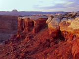 Canyonlands NP  Utah White Rim Sandstone and Cutler Formation  Sunset